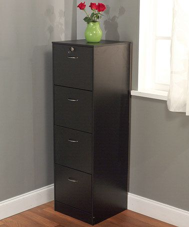 Take A Look At This Black Four Drawer Wilson Filing Cabinet By Target Marketing Systems On Zulily With Images Filing Cabinet Drawer Filing Cabinet Filing Cabinet Storage