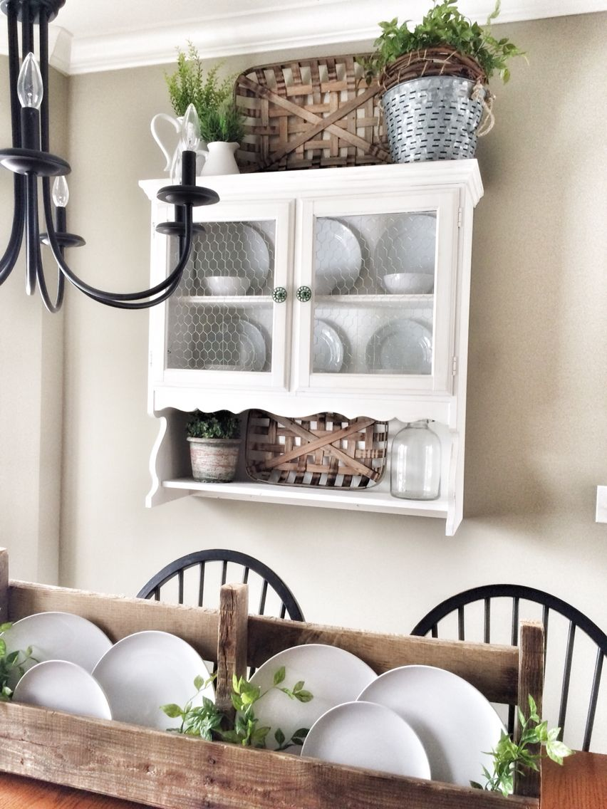 These tobacco baskets were made for this little hutch! | Bless This ...