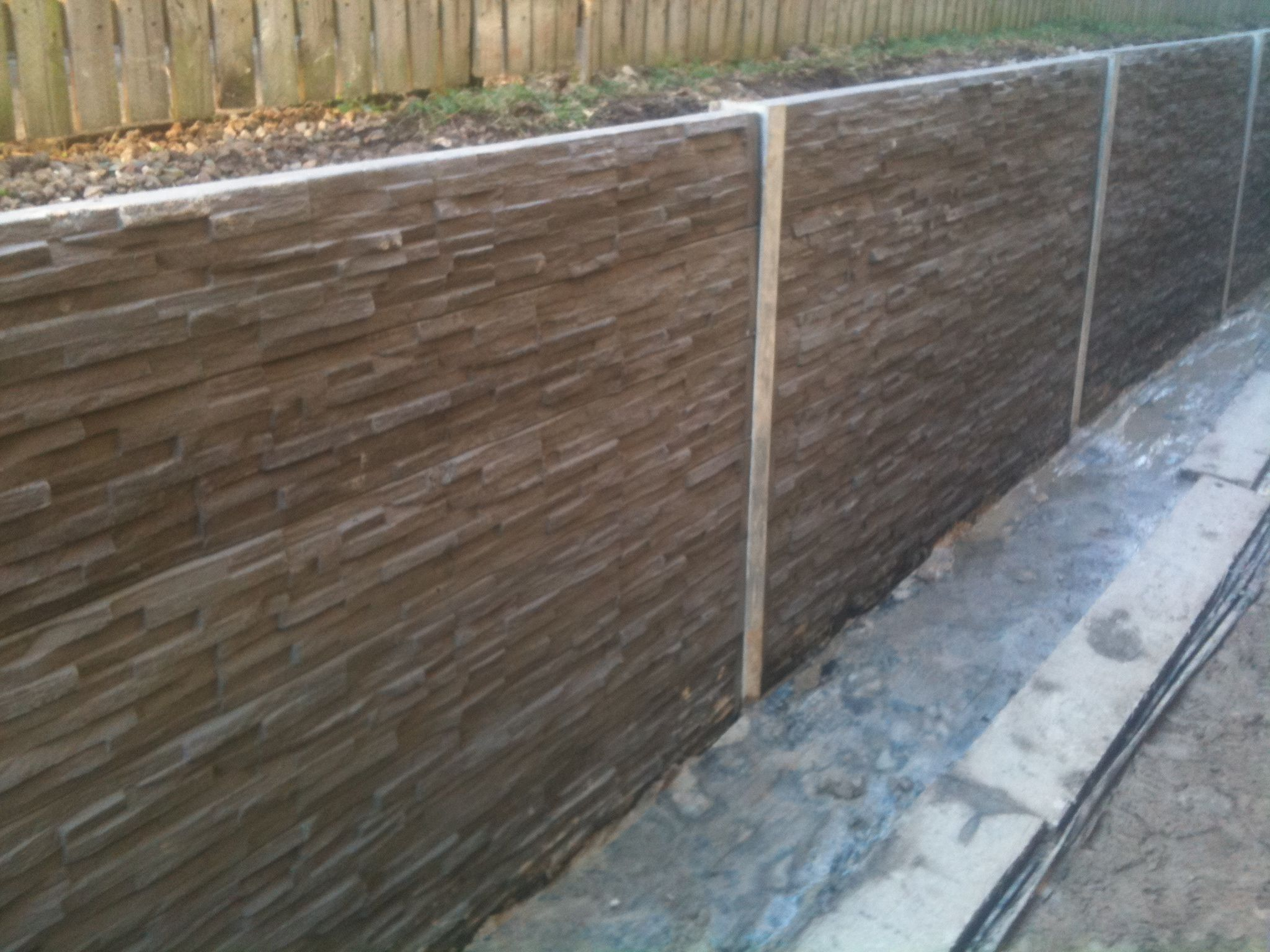 Concrete sleepers retaining wall google search design for Concrete block walls design