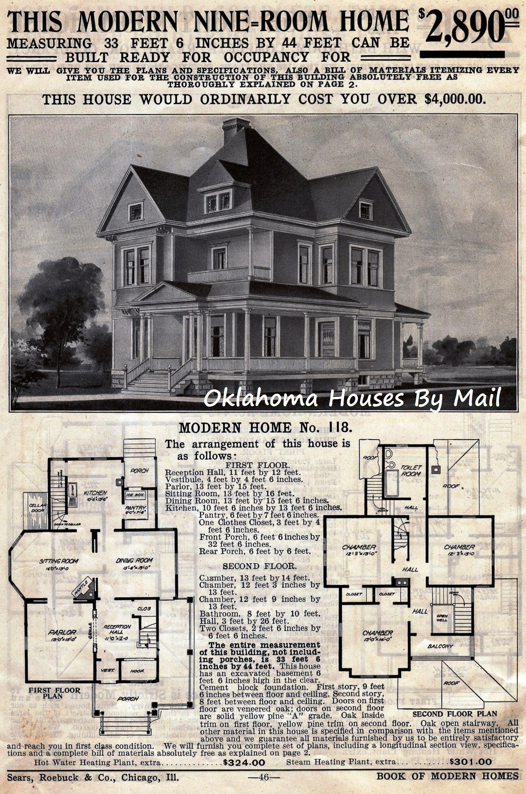The Sears 118 A Very Popular Early Sears Modern Home Metal Building House Plans How To Plan Vintage House Plans