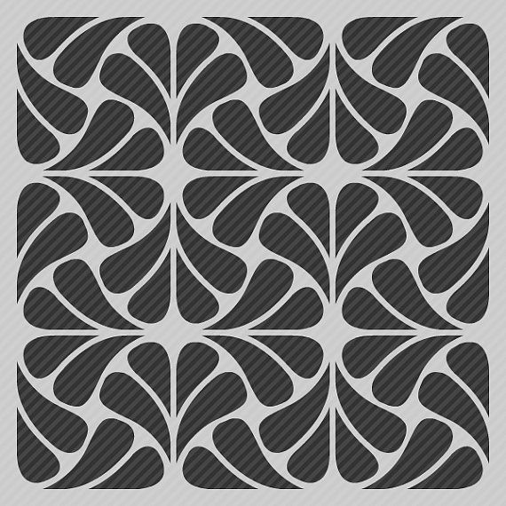 Reusable Stencil Modern Geometric Abstract Allover Pattern