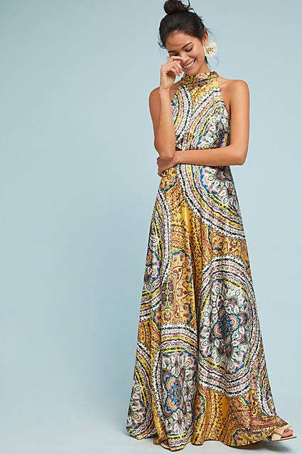 ca4f1c3b03 Nicole Miller New York Paisley Maxi Dress 70 s inspired retro maxi dress  for spring or summer  fashion  style  shopping affiliate