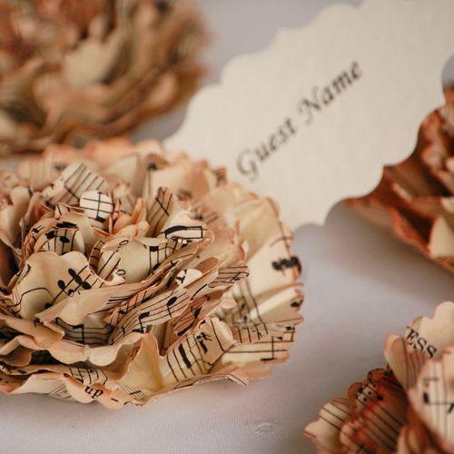 music sheet flowers