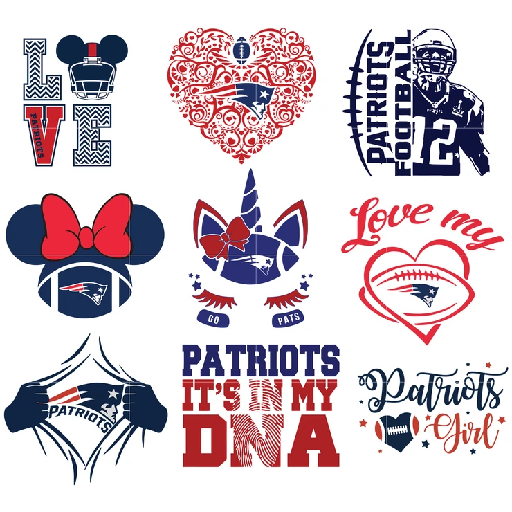 New England Patriots Svg New England Patriots Files Patriots Logo Football Silhouette Cameo Cricut Digital Clipart Layers Png Dxf Ai In 2020 Patriots Logo New England Patriots Logo New England Patriots