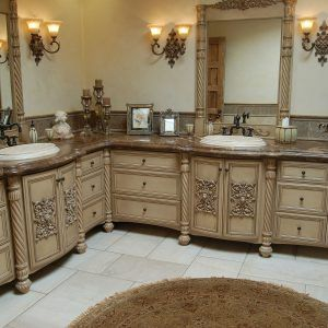 Ordinaire Faux Finish Bathroom Cabinets