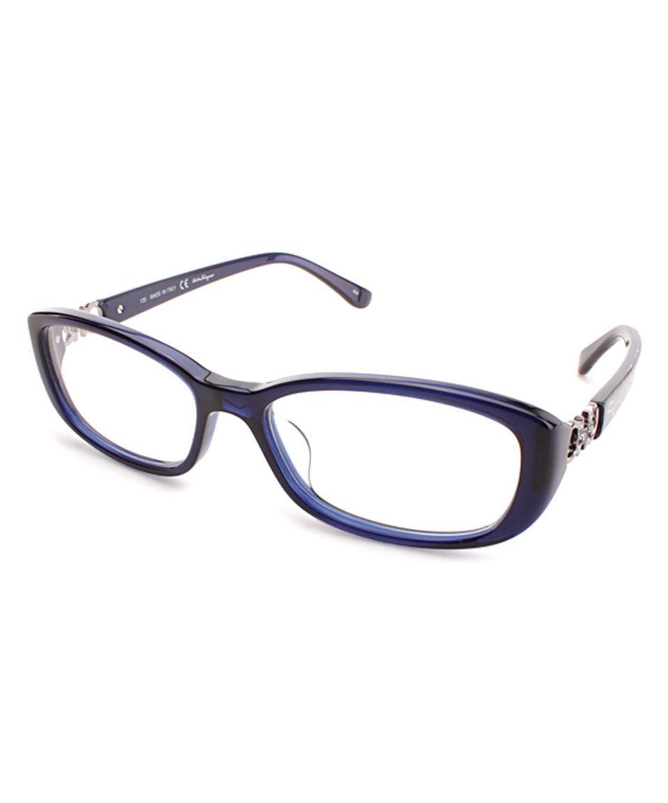 81703ea6247 Look at this  zulilyfind! Salvatore Ferragamo Dark Crystal Blue Rectangle  Eyeglass Frames by Salvatore Ferragamo  zulilyfinds