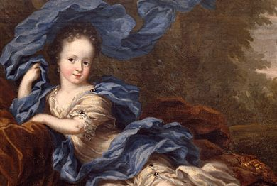 Princess Hedvig Sofia by David K. Ehrenstrahl. Detail of oil painting. Photo: Nationalmuseum/Idha Lindhag.