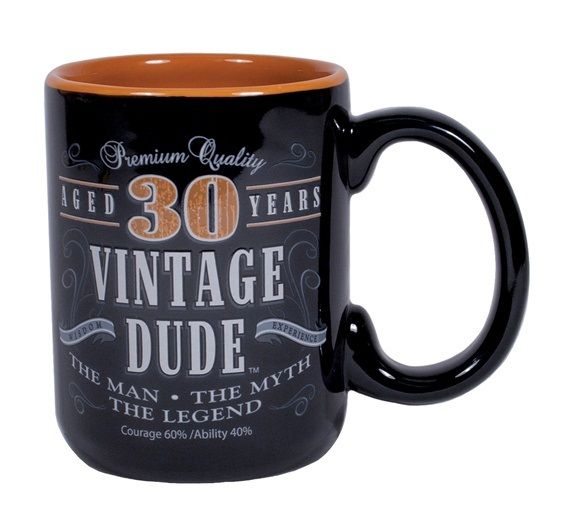 Vintage Dude 30 Mug A Fun Gift For Your Year Old Guy