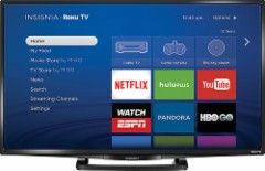 "Insignia™ - 32"" Class (31.5"" Diag.) - LED - 1080p - Smart - HDTV Roku TV - Black - NS-32DR420NA16 - Best Buy"