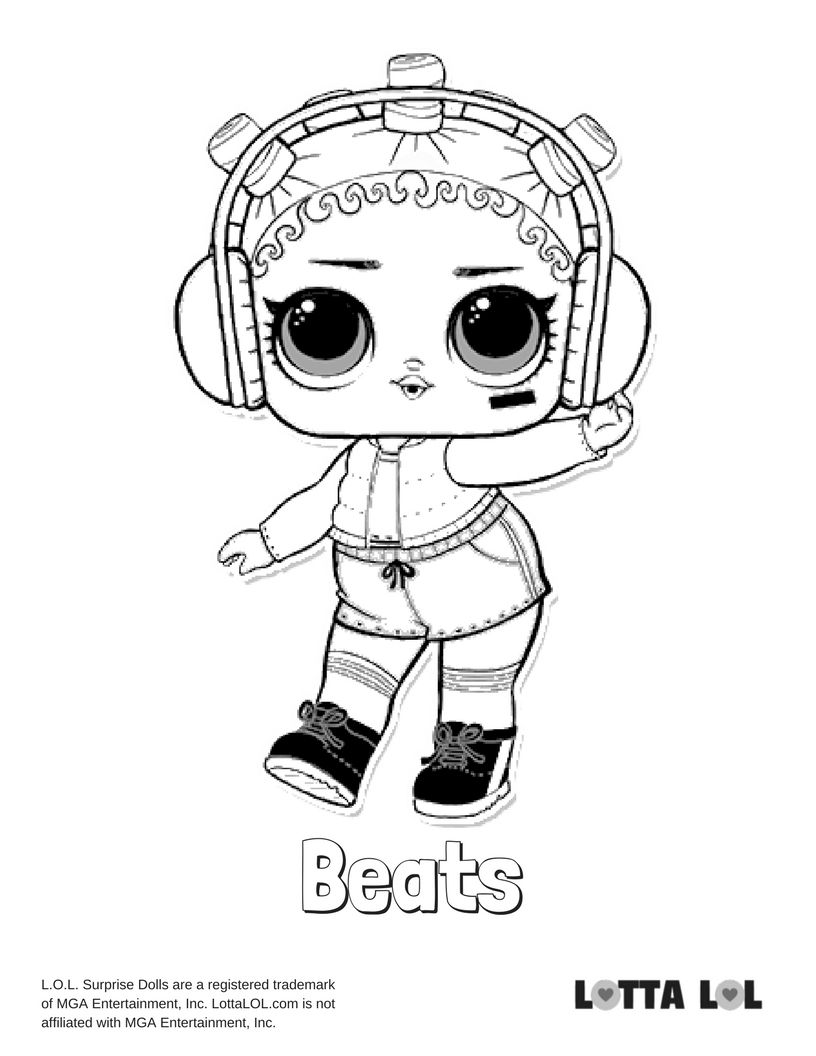Beats Coloring Page Lotta Lol Coloring Pages Kids Printable Coloring Pages Lol Dolls