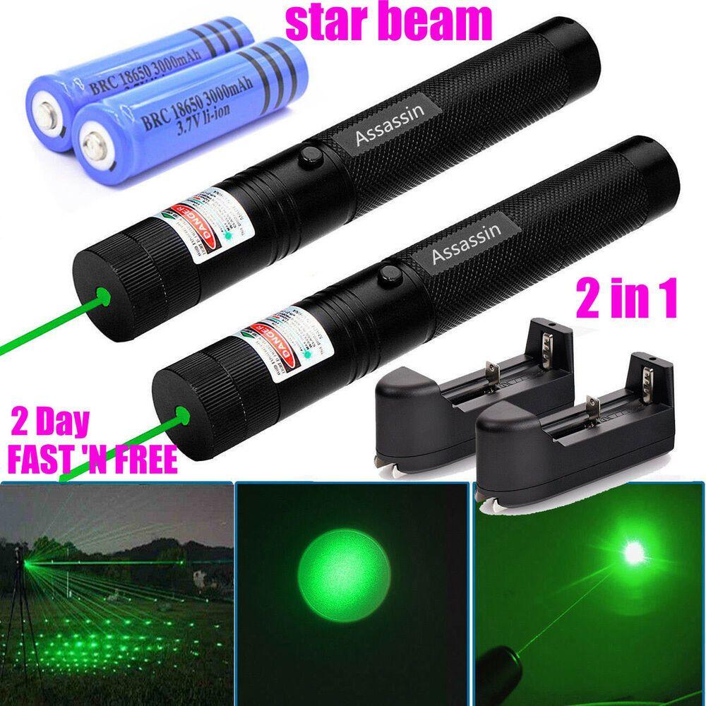 Sponsored Ebay 2pc 60 Miles Green Laser Pointer Pen Bright Star Light Visible Beam Torch Lazer Lazer Lights Pointers Ebay