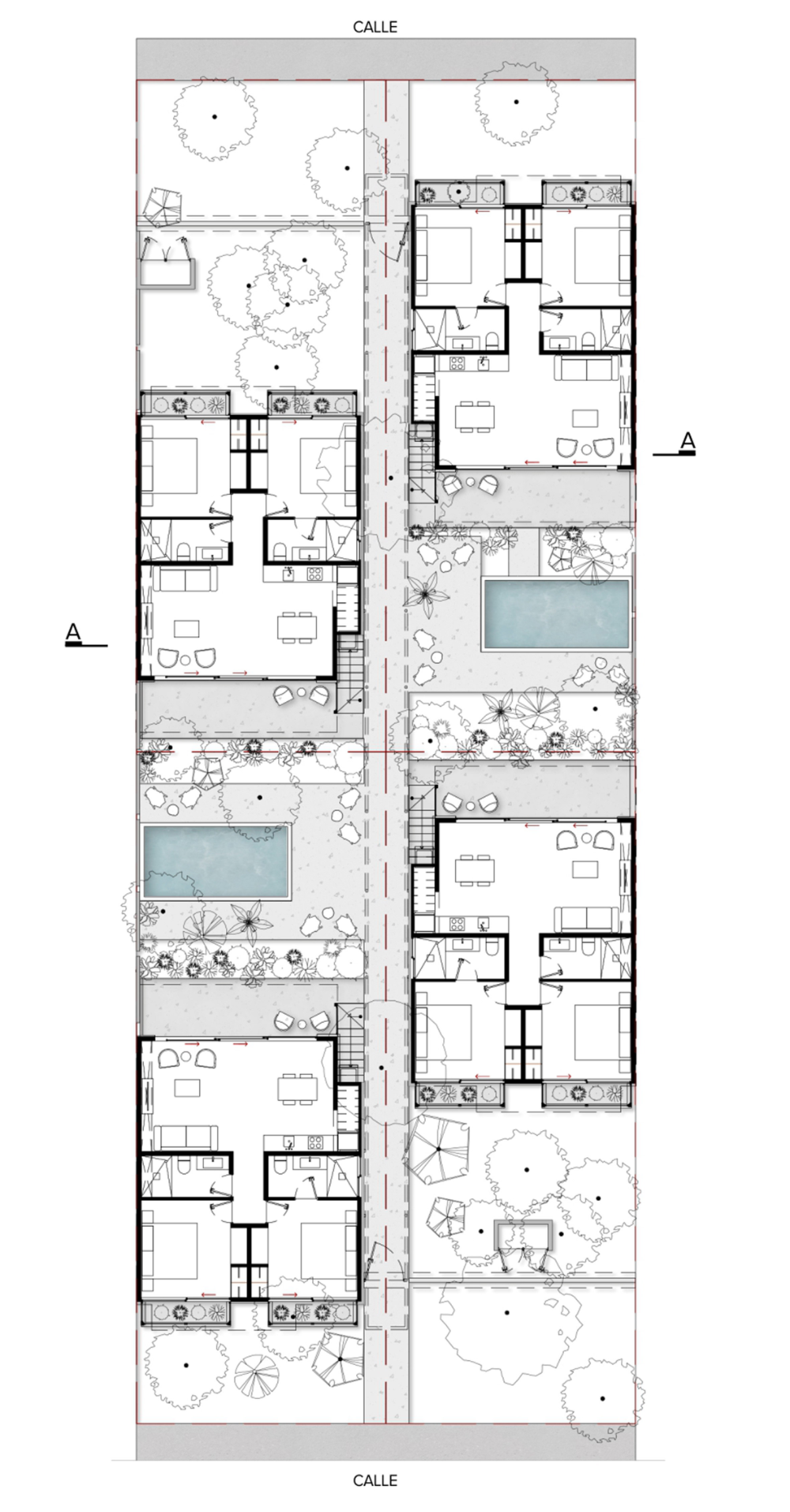 Studio Arquitectos Creates Holiday Home Like Apartments For Tulum S Permanent Residents Hotel Floor Plan Architectural Floor Plans Hotel Plan