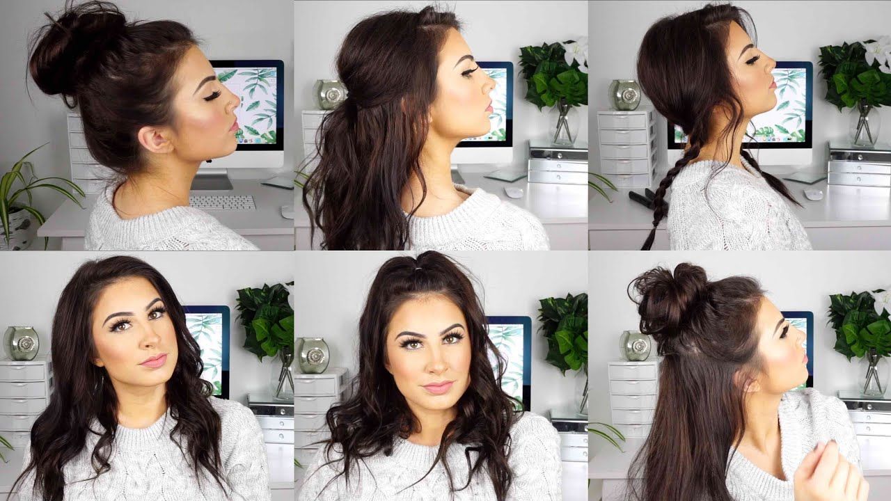 Cute And Easy Hairstyles For Medium Thin Hair Youtube Medium Thin Hair Long Thin Hair Medium Hair Styles