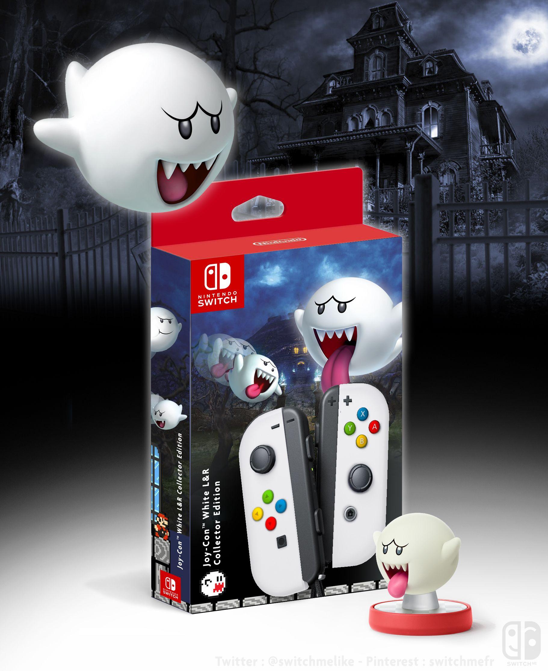 Joy Con Collector White Color Amiibo Boo Nintendo Switch A Switch Me Fan Art If U Like It Fol Nintendo Switch Accessories Nintendo Switch Games Nintendo
