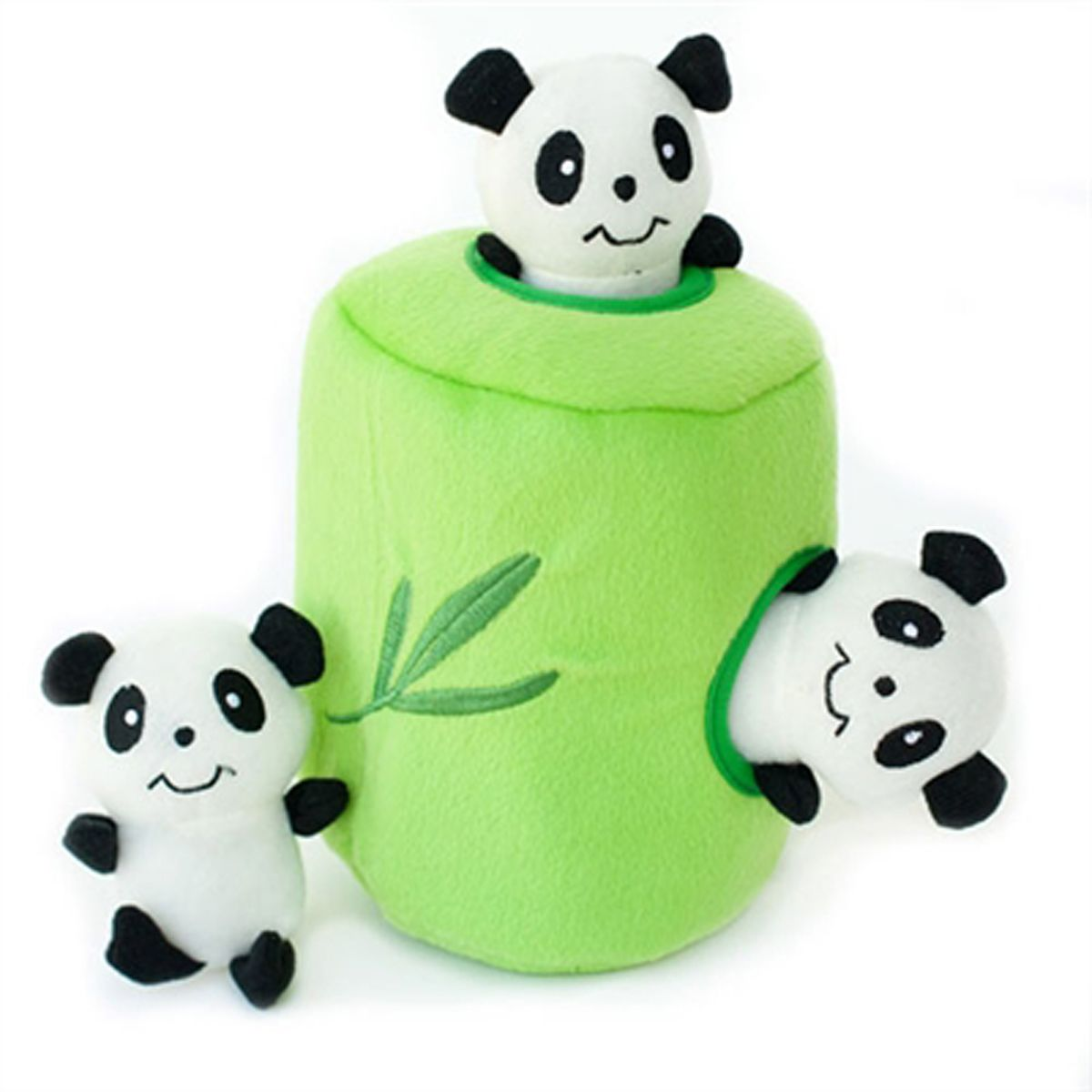 Zippypaws Burrow Dog Toy Panda N Bamboo Interactive Dog Toys