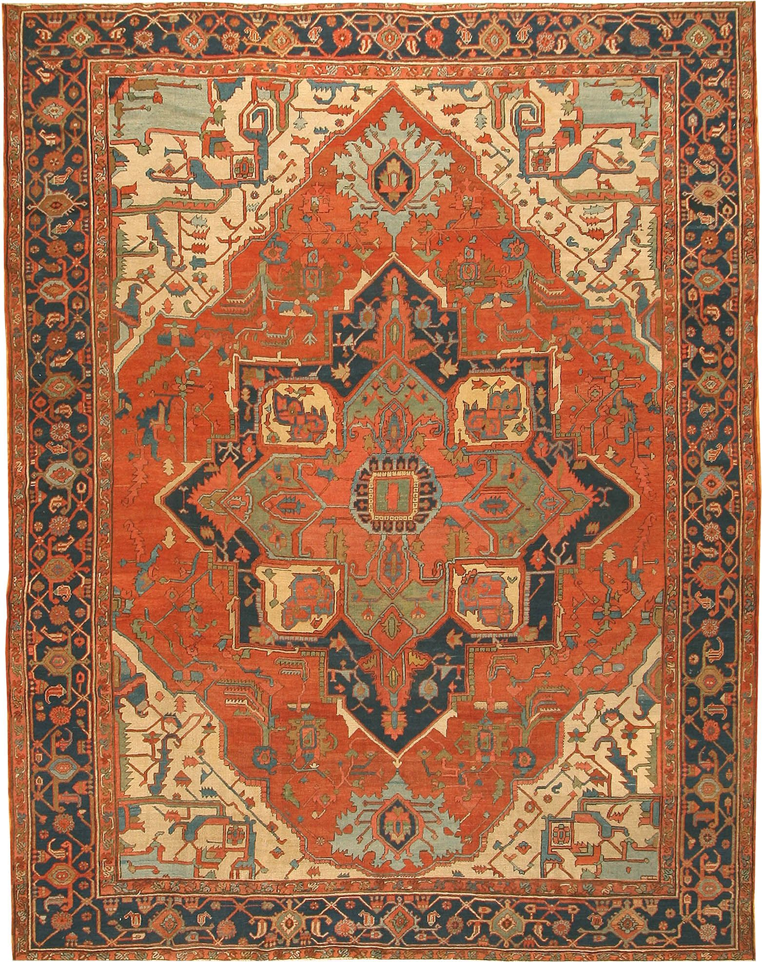 View This Beautiful Antique Serapi Persian Rug 42733 From Nazmiyal S Fine Rugs And Decorative Carpet Collection