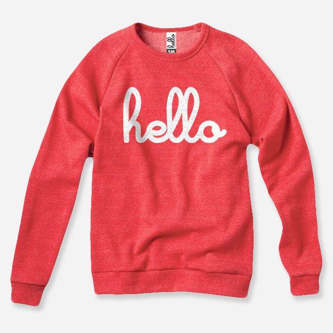 This Hello (Adult) Red Champ Pullover is probably the most comfortable thing I've ever worn! #helloapparel