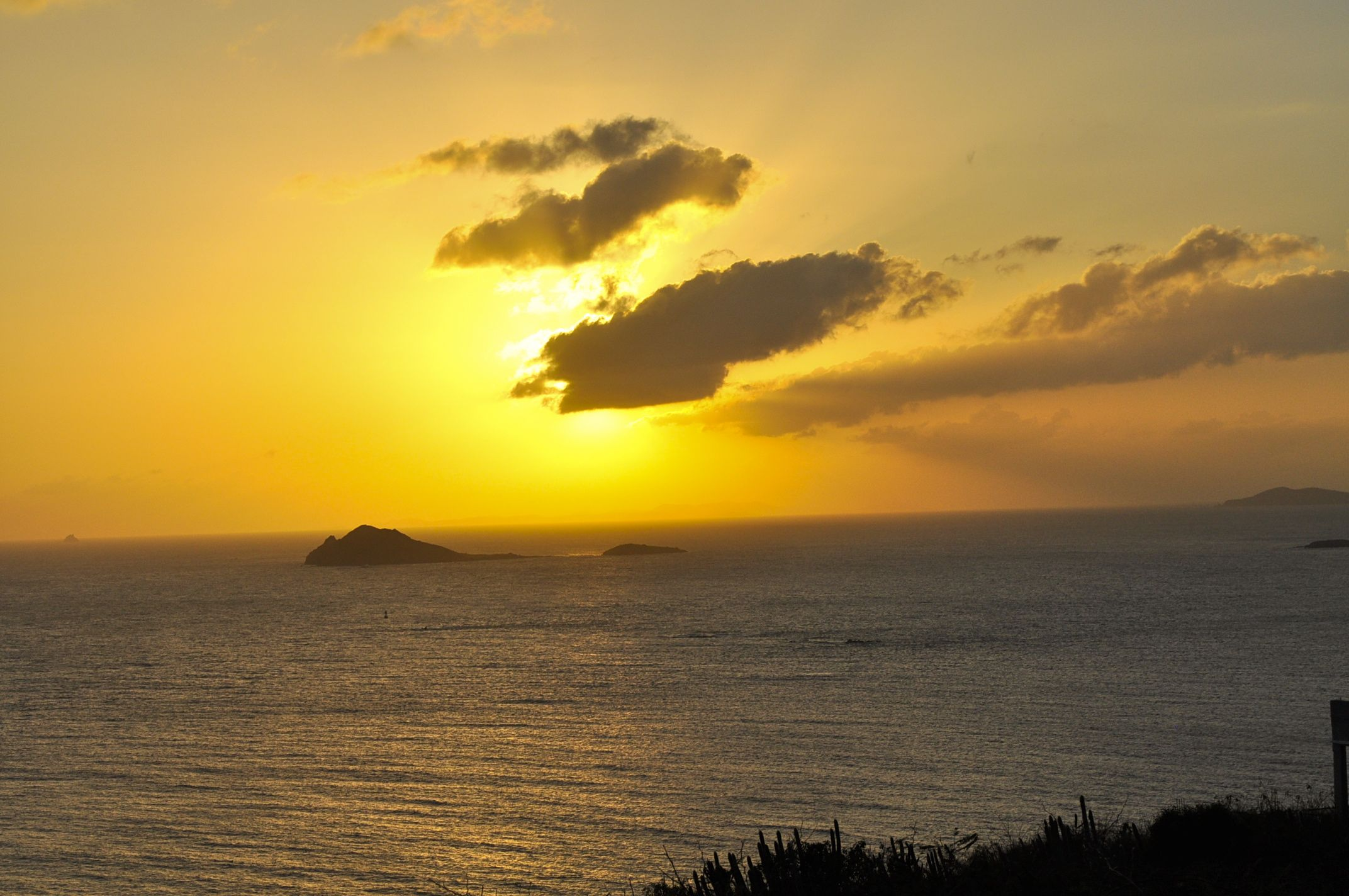 Sunset view from Windswept Condo located on Water Island USVI