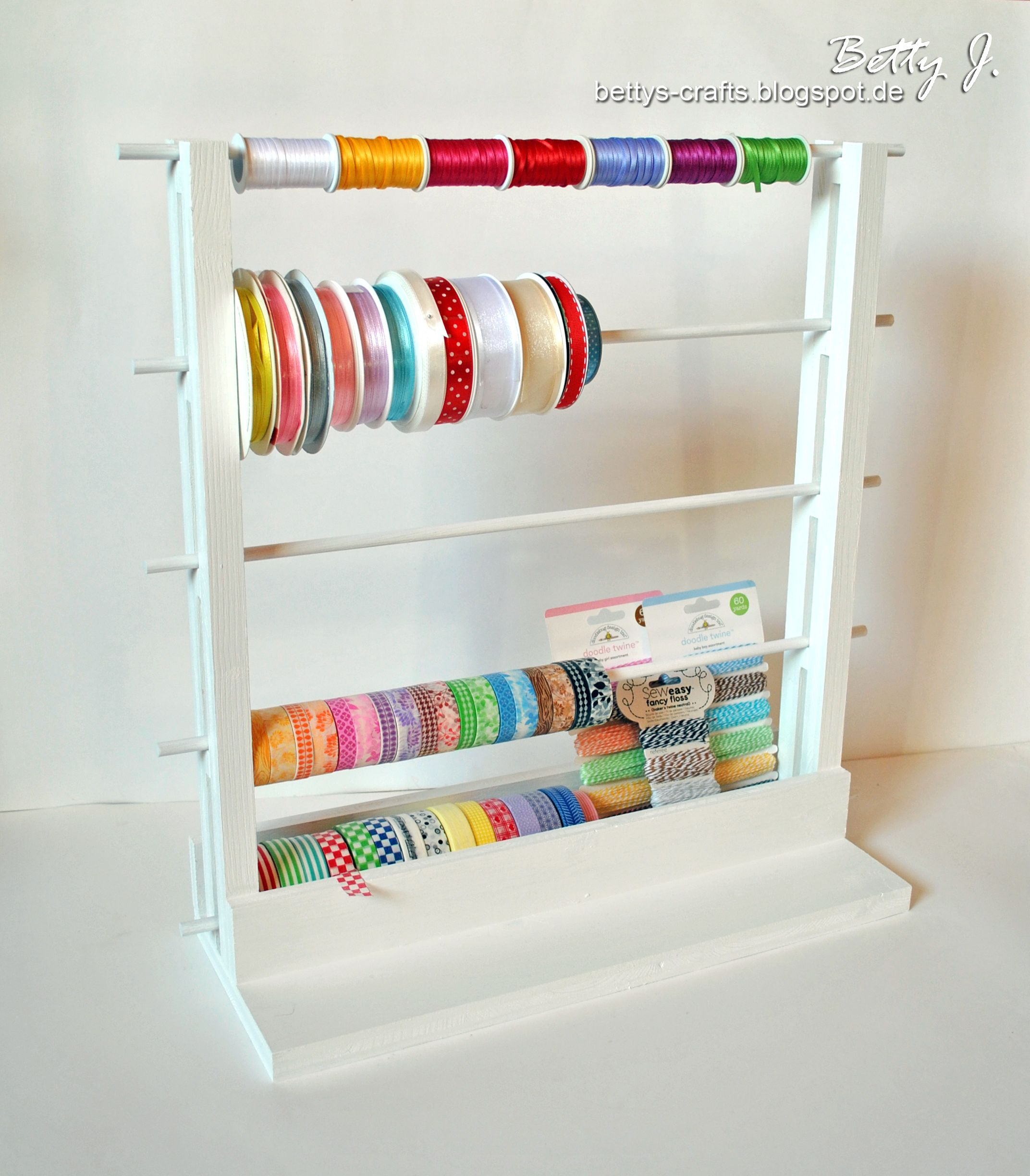 Ribbon And Washi Tape Stand Scrapbook Com Diy Storage