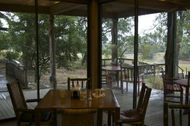 Dining area Fossil Rim Wildlife Center campground area ...