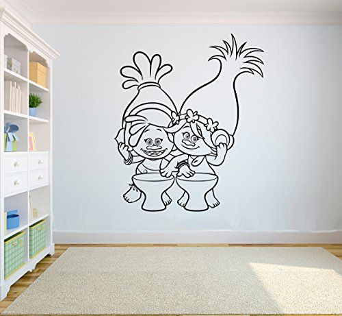 Dreamy Trolls Decorating Ideas For Bedrooms White Wall Stickers - Wall stickers for bedrooms teens