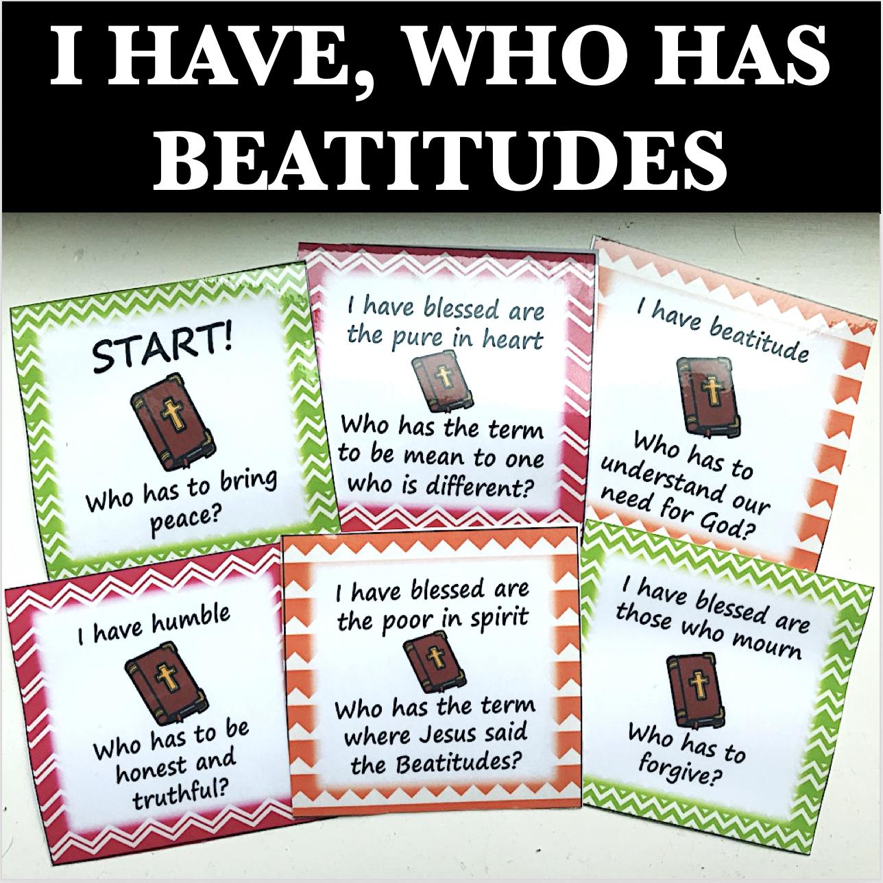 I Have Who Has Beatitudes
