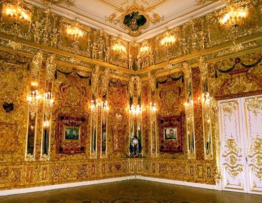 A room made of gold. Created by King Friedrich I of ...