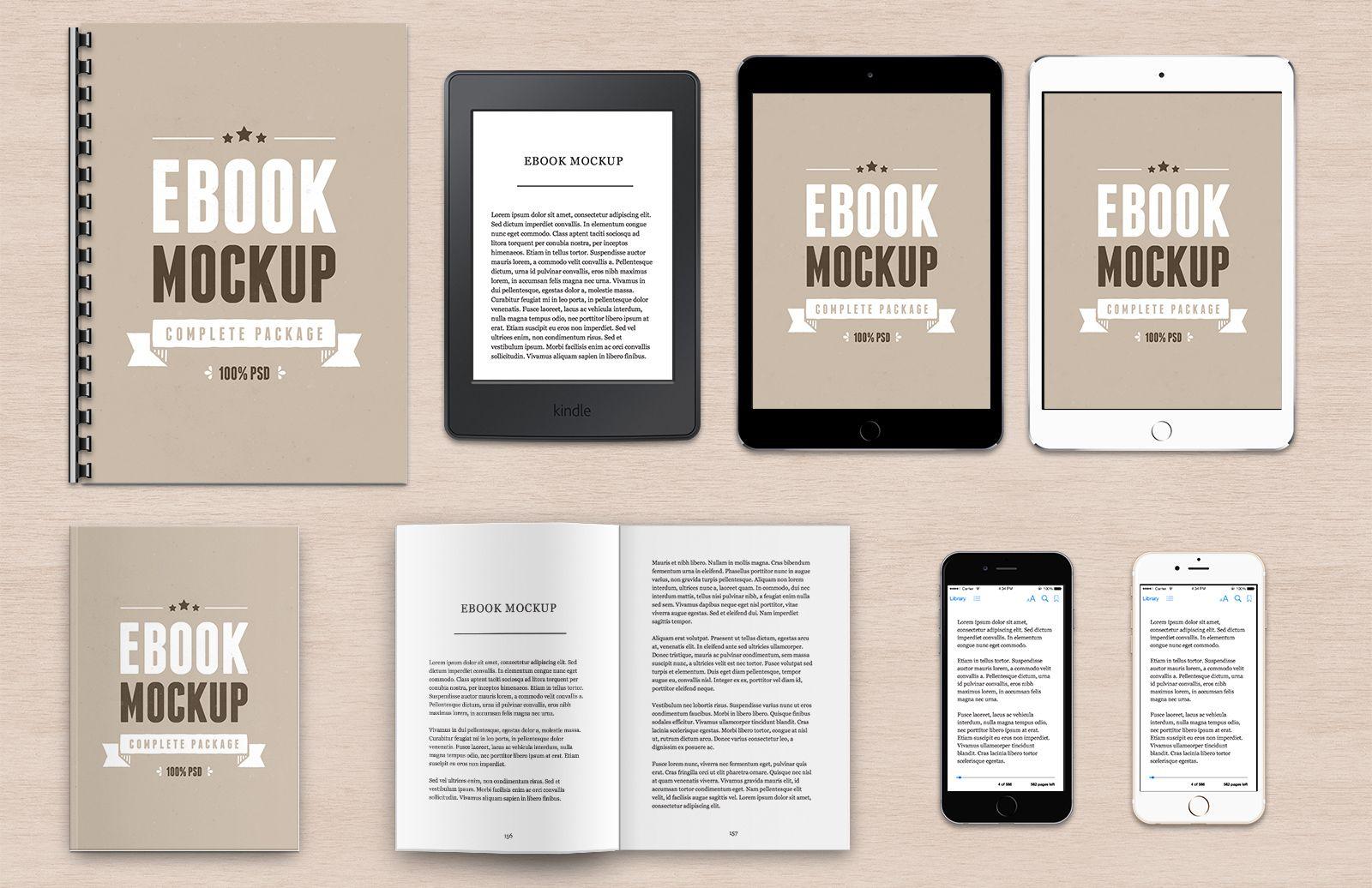 Ebook mockup package