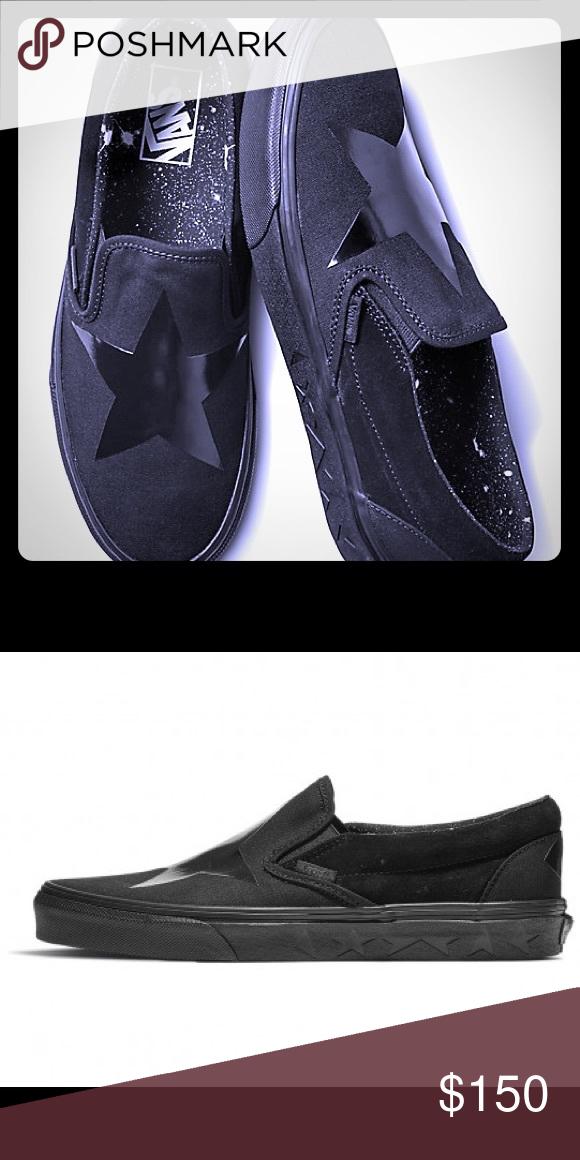 3ccec3927 Vans Shoes | Black Star Vans Slip-On Shoes (David Bowie) | Color ...