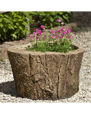 Campania International Adirondack Cast Stone Planter   Garden Planters At  Hayneedle