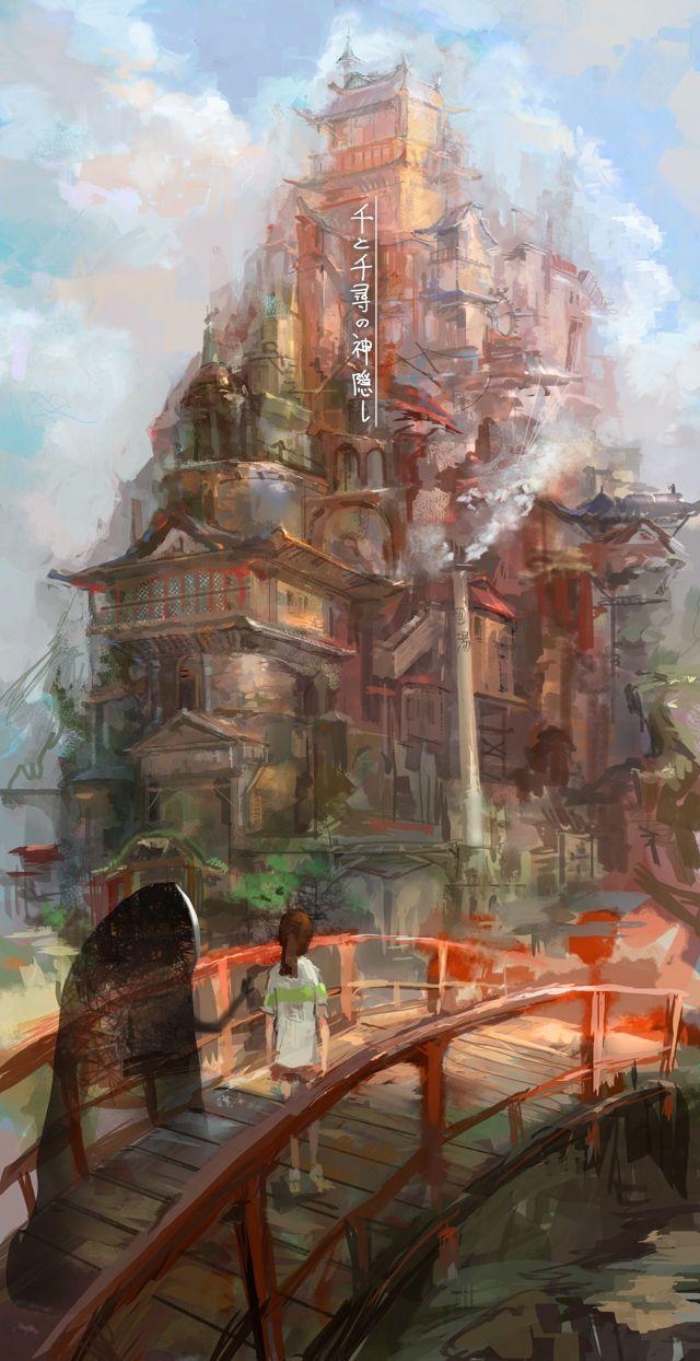 作者どんな脳みそしてんだ と思った架空世界の風景画像貼ってくれ Studio Ghibli Art Studio Ghibli Movies Studio Ghibli
