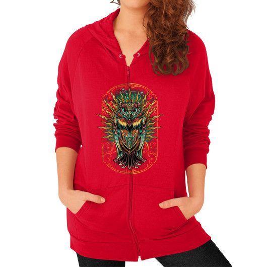 S'Owl Keeper Zip Hoodie (on woman)