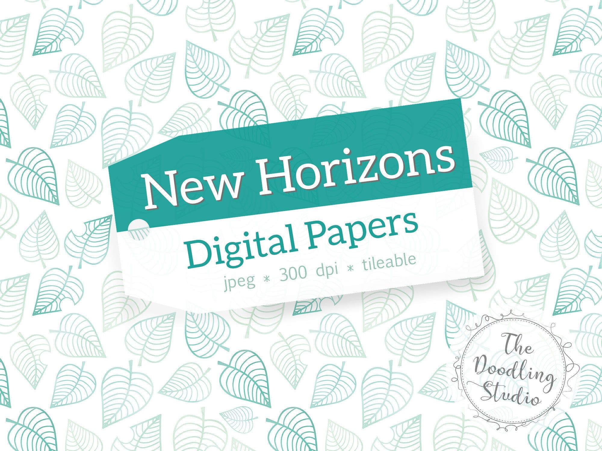 Animal Crossing New Horizons Digital Papers 12 Tileable Patterns