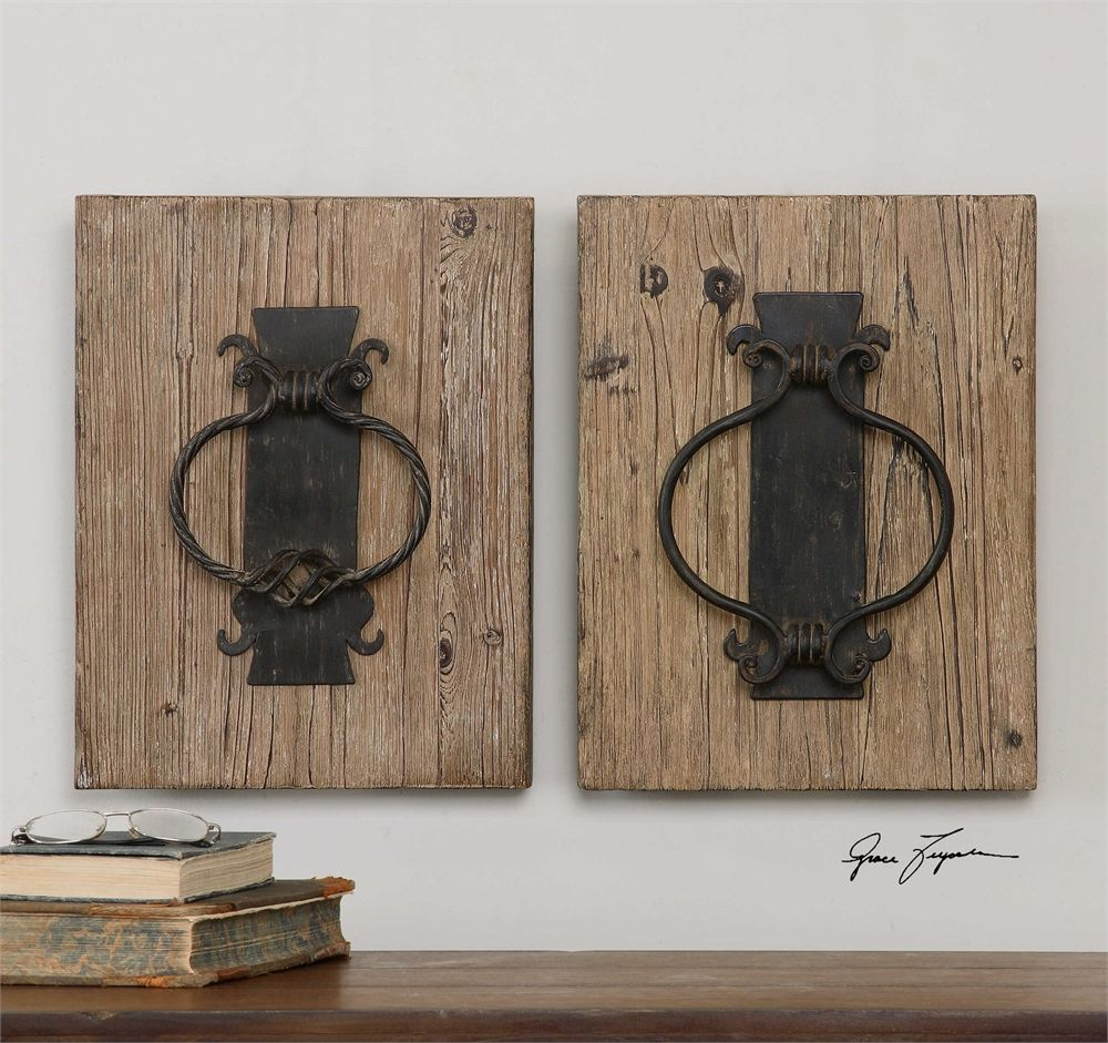 Uttermost rustic door knockers wall art s schmidt pinterest