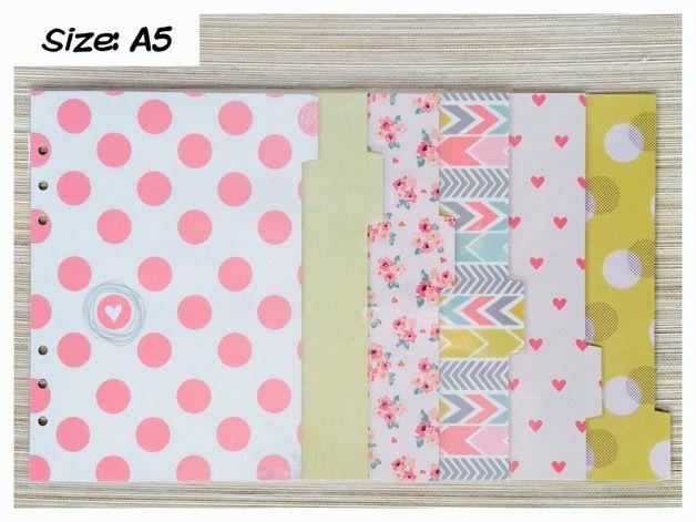 Terminplaner-Register ♥ Sweetness ♥ (Size: A5) - ein Designerstück von ApolloDesigns bei DaWanda