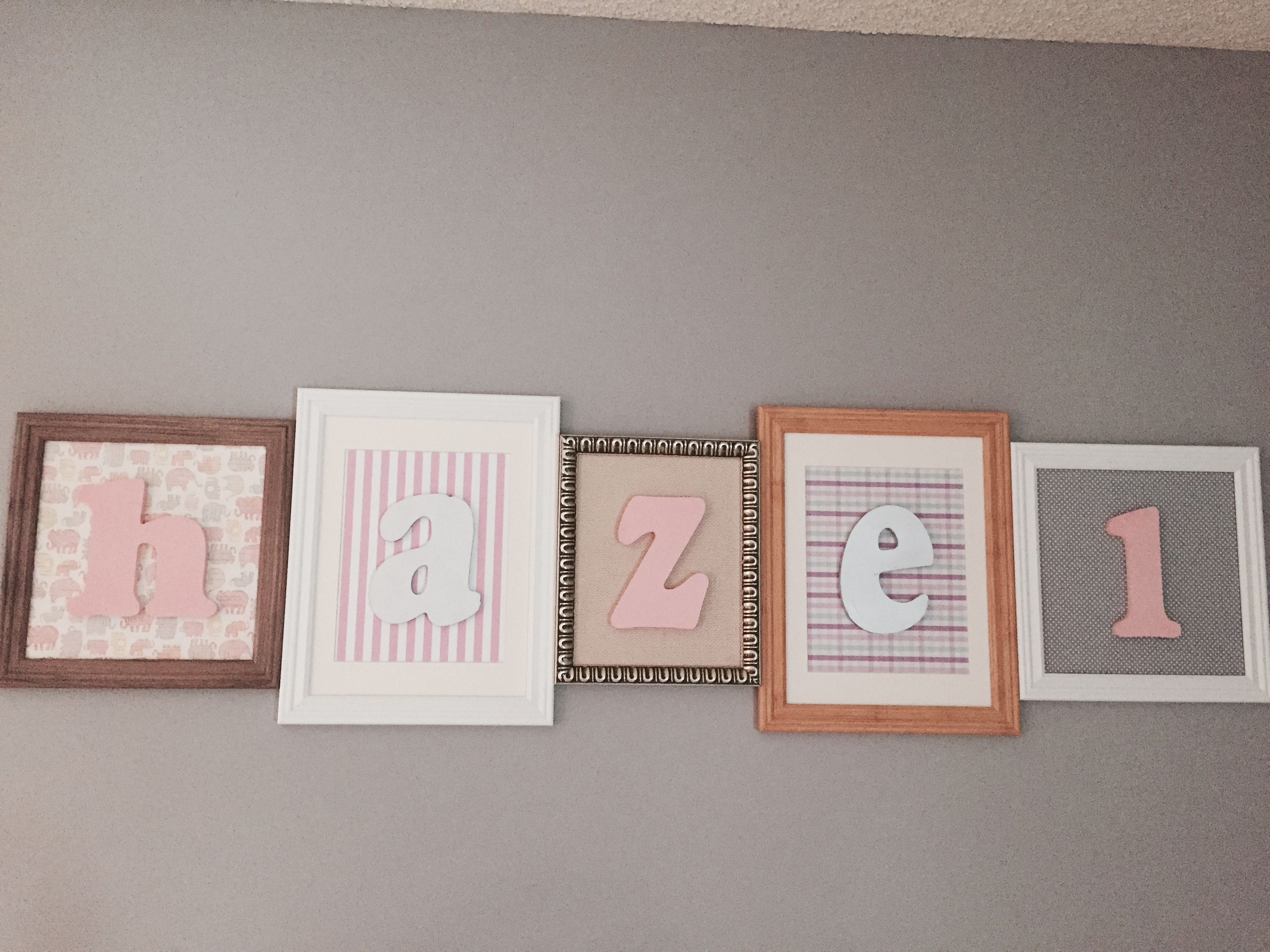 How to glue scrapbook paper to wood letters - Letters
