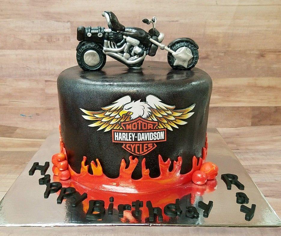 Harley davidson bike cake bike cakes harley davidson