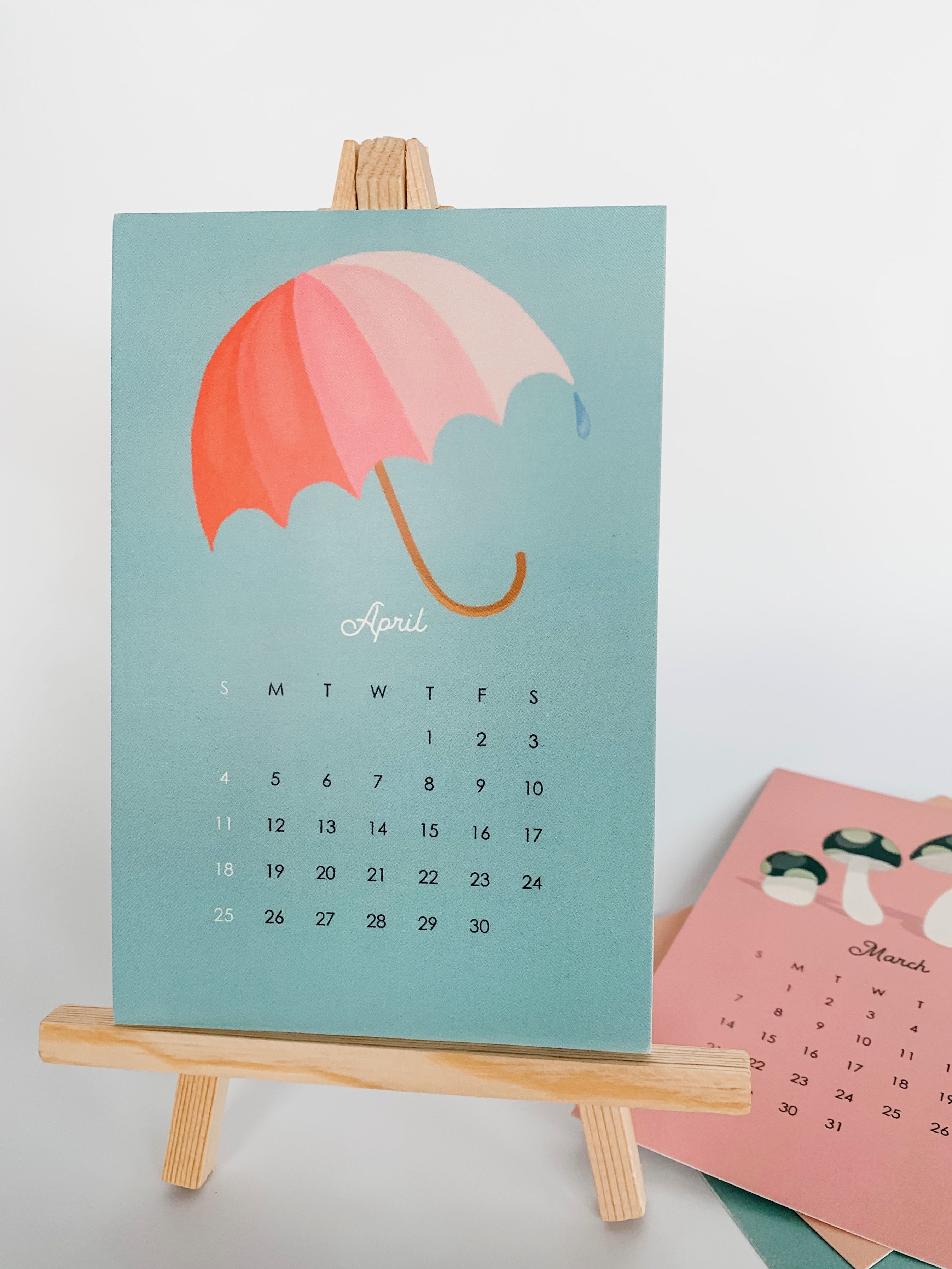 2021 Monthly Icon Desktop Calendar With Stand In 2020 Desktop Calendar Calendar Prints