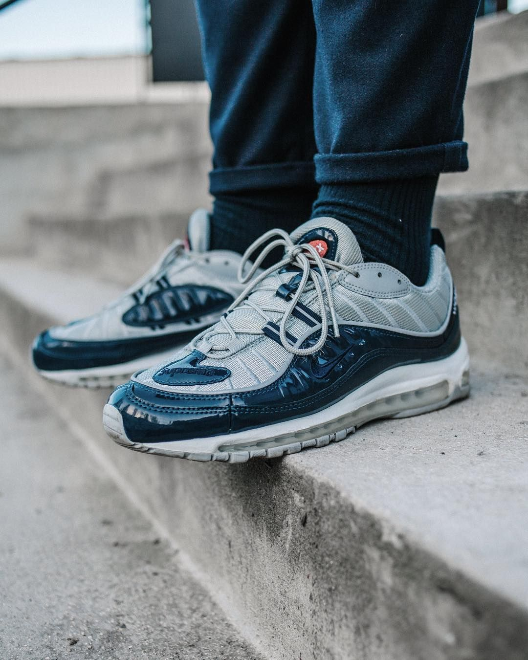 new style 38221 b329d Midnight Navy SUPREME Air Max 98