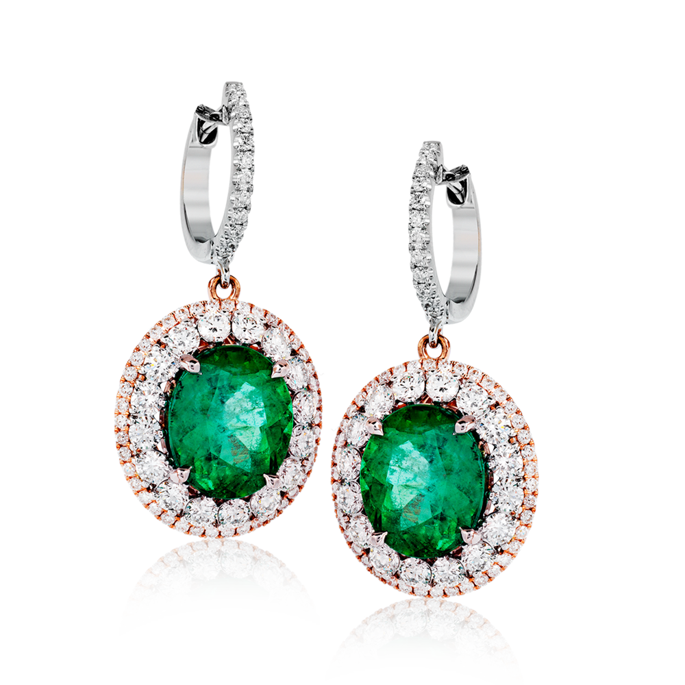 These incredible 18k white gold earrings inspired by old-world ...