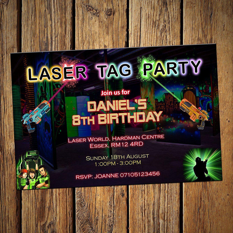Einladung Lasertag Vorlage Kostenlos