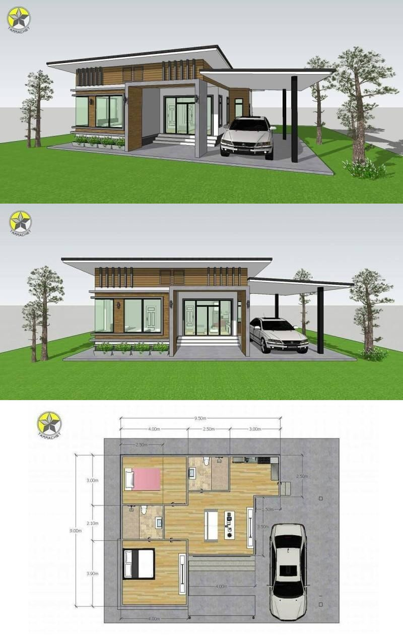 Petite And Compact Two Bedroom Single Storey House Design Ulric Home Bungalow House Design Philippines House Design Small House Design Philippines