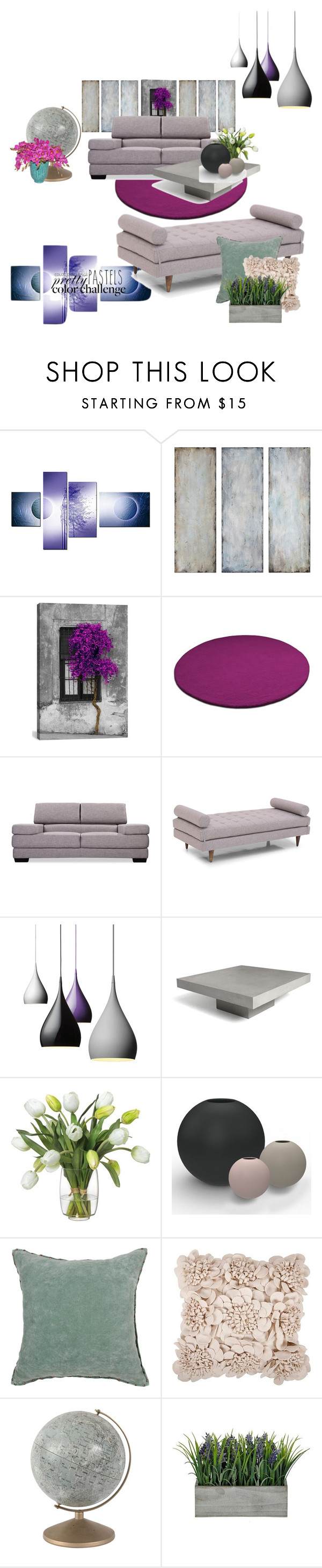 """Untitled #280"" by forkelly1 ❤ liked on Polyvore featuring interior, interiors, interior design, home, home decor, interior decorating, Uttermost, iCanvas, Joybird Furniture and Diane James"