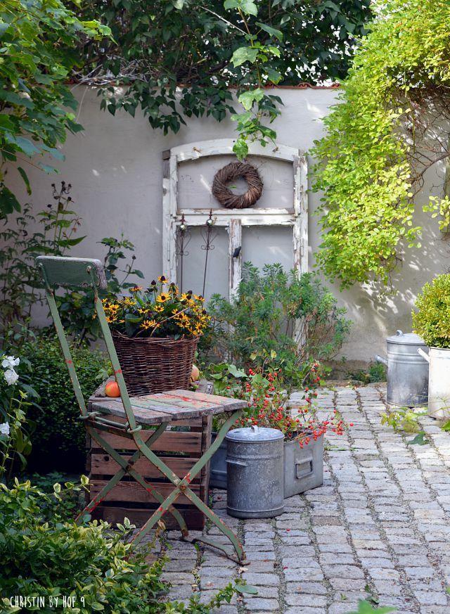 DIY im Herbst und ein Füllhorn der Natur im Innenhof