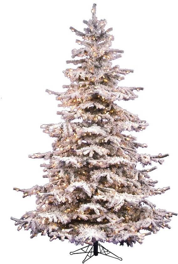 vickerman 10 ft pre lit flocked sierra artificial christmas tree