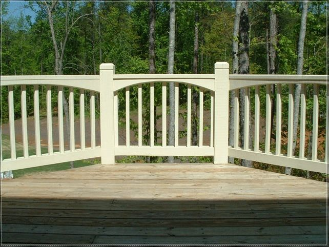 Unique Deck Railing Ideas Picnic Tables Pinterest