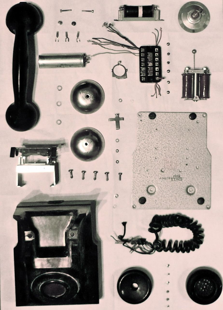 old phone parts