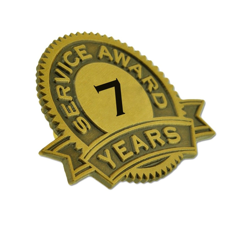 PinMart 7 Years of Service Award Lapel Pin