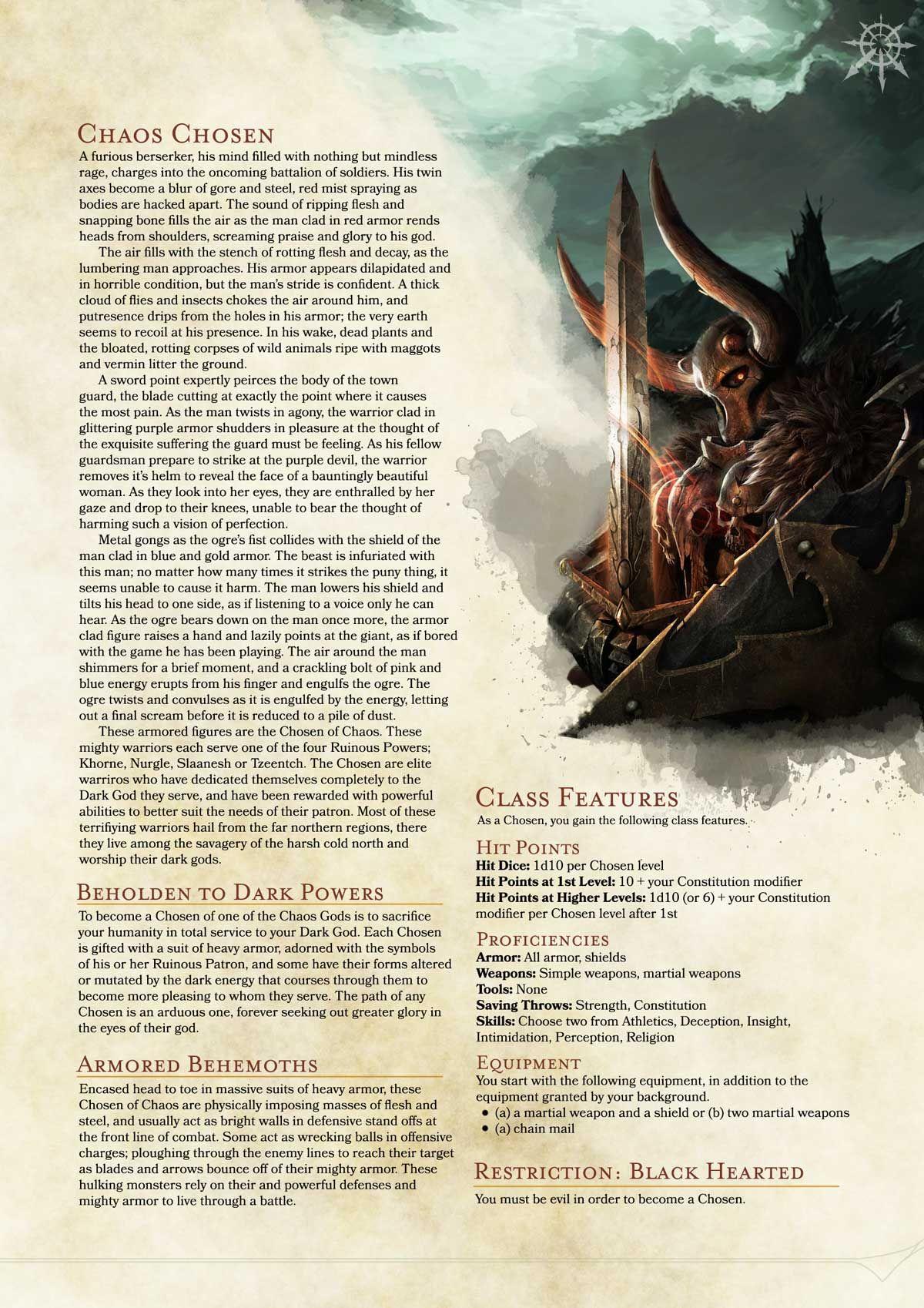 Warhammer Chosen Homebrew 1.5 | Pinterest | Dnd 5e homebrew, RPG and ...