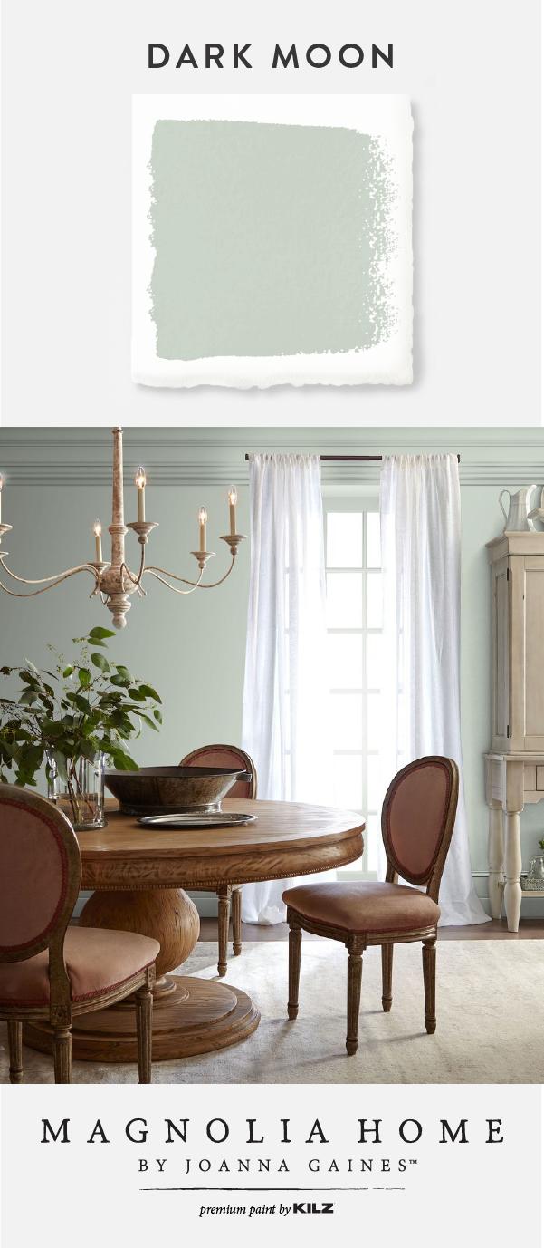 Dark Moon Interior Paint In 2020 Green Dining Room Green Dining Room Walls Dining Room Colors